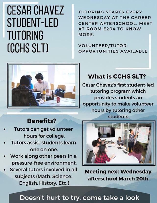 Cesar Chavez Student-Led Tutoring (CCHS SLT)