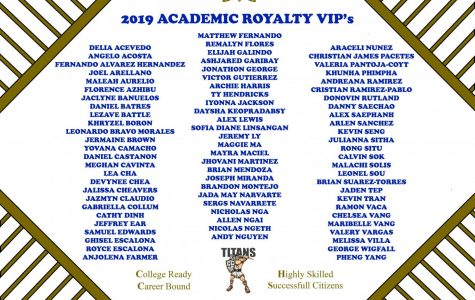 List of the 78 seniors to earn VIP rank in Academic Royalty.