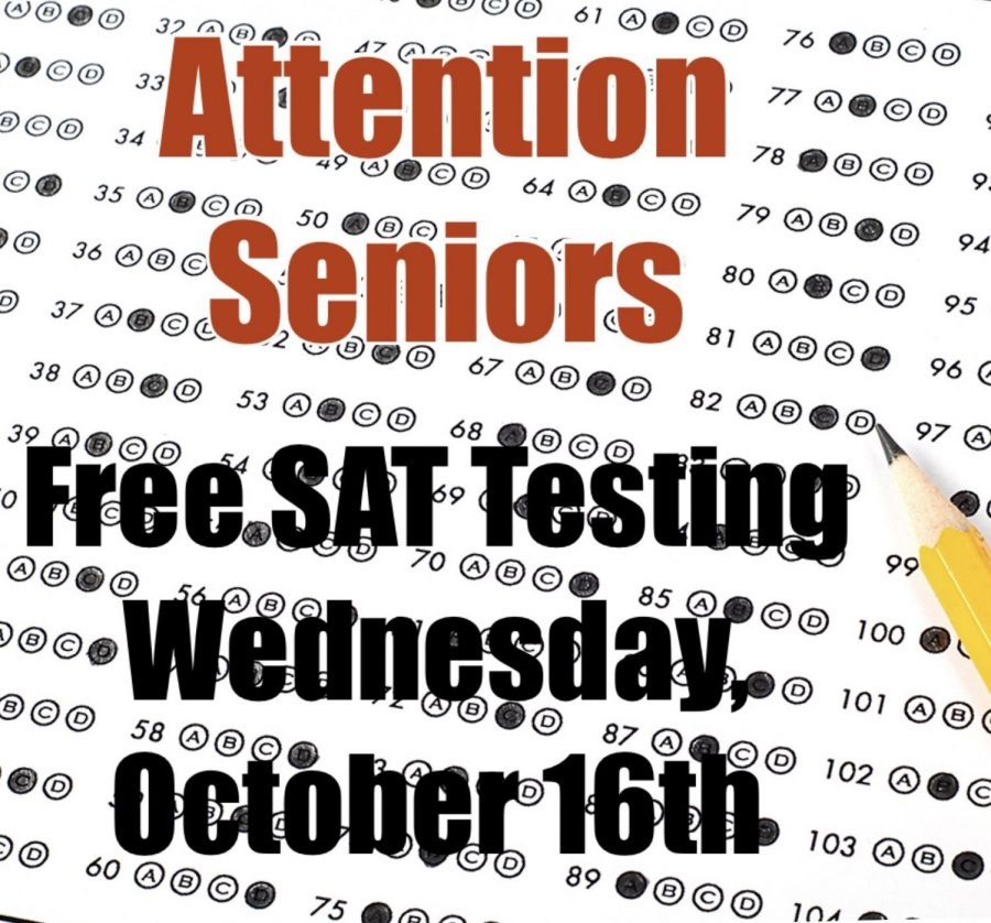 October 19, 2019 all Seniors will be able to take the SAT for free at Chavez.
