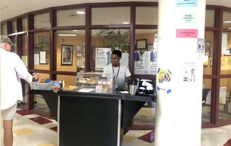 CCHS coffee cart for staff and parents, also has snacks,