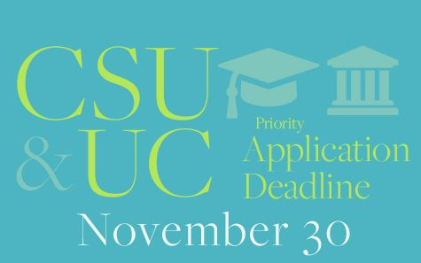CSU and UC Applications Due