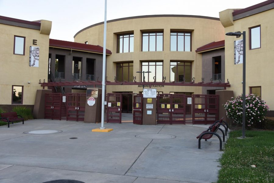 Corona Virus clears the CCHS campus for day 1 of school.