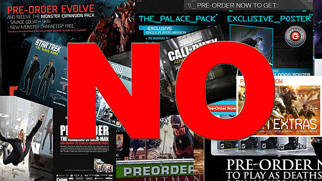 Why you should not preorder video games